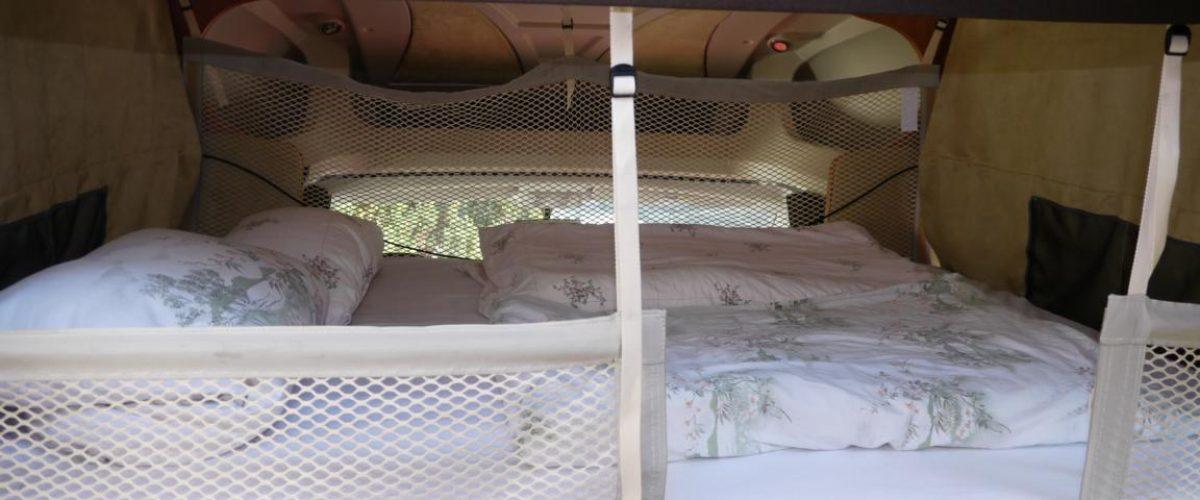 abgesenktes Bett für 2 Personen